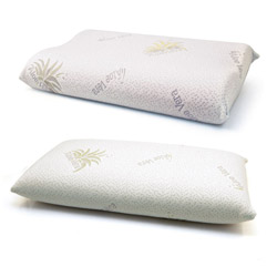 Guanciali in memory foam all�Aloe Vera