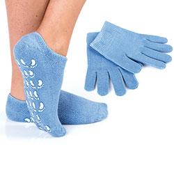 Calzini e guanti per pelle disidratata
