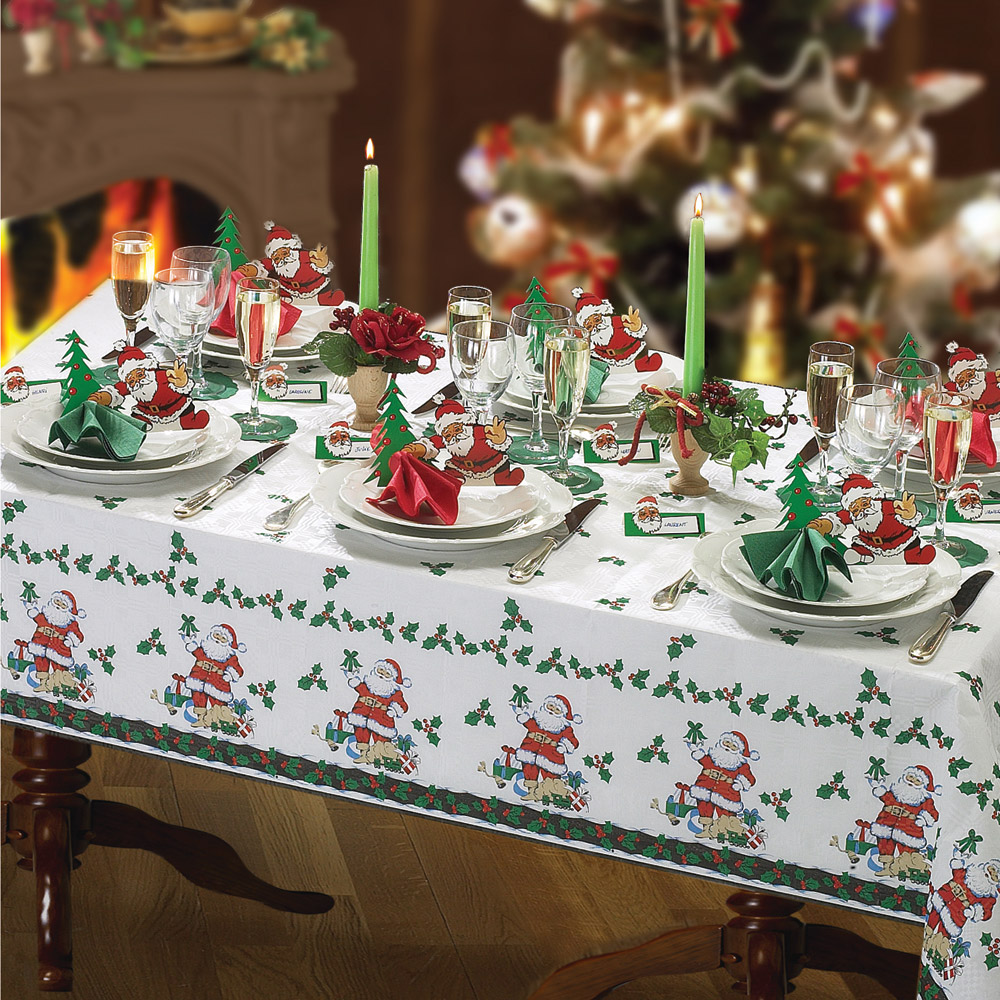 Set completo tovaglia di natale per 12 coperti decorazioni per la tavola dmail - La tavola di natale decorazioni ...
