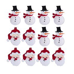 Set 6 mollettine natalizie pupazzo di neve