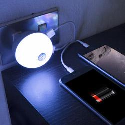 Luce notturna con doppia presa USB