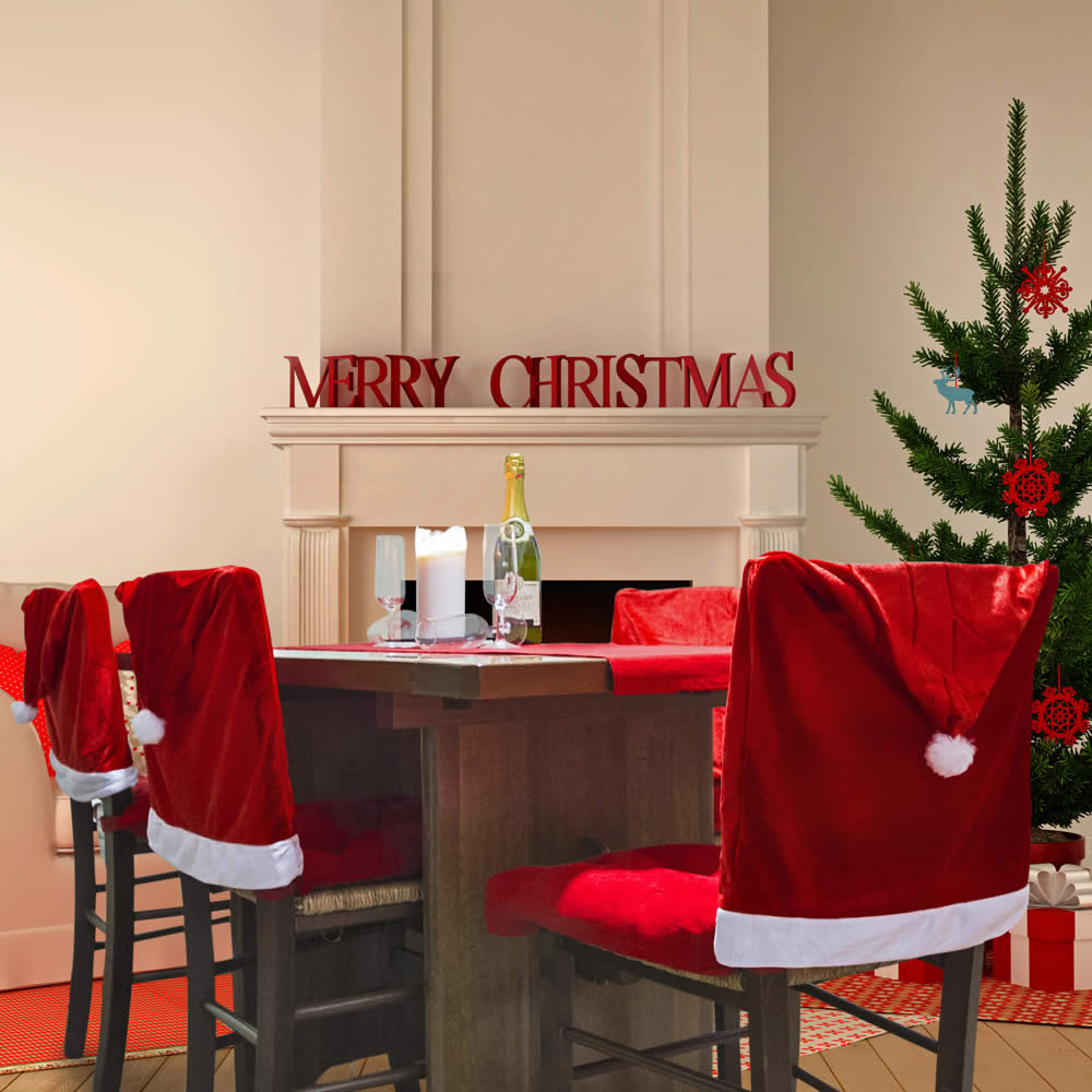 Set di 4 coprisedie natalizi decorazioni per la tavola for Dmail natale