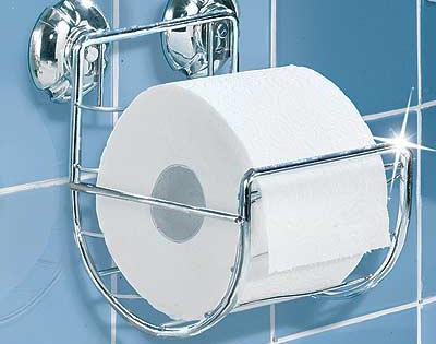 Porta rotolo carta igienica a ventosa articoli bagno dmail - Albero porta carta igienica ...