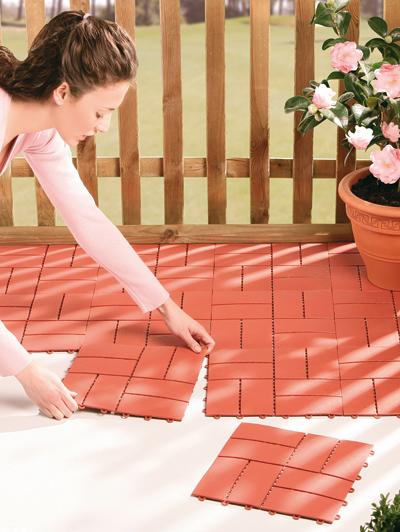 Set 4 piastrelle per terrazzo arredamento dmail for Piastrelle terrazzo