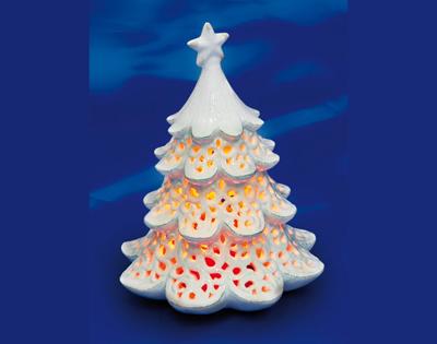 Decorazione in ceramica albero di natale fuori tutto for Decorazione ceramica