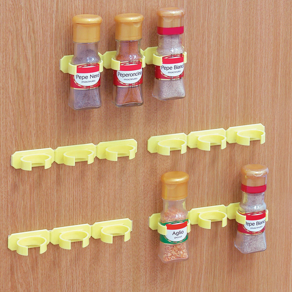 Set di 5 porta spezie gialli outlet cucina dmail - Ikea porta spezie ...