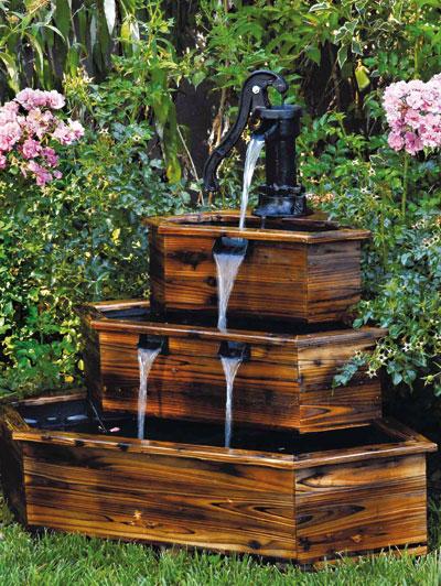 Fontana in legno a cascata arredamento dmail for Fontane in legno