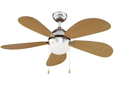 Ventilatore con pale da soffitto   lampadario   outlet casa e ...