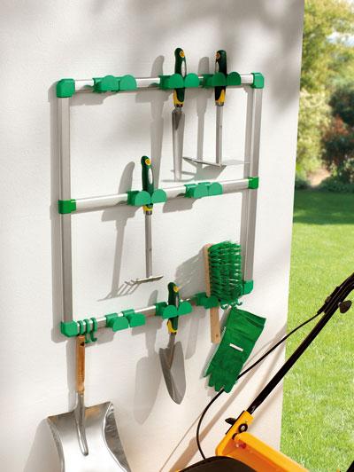 Porta utensili da giardinaggio attrezzi dmail - Porta attrezzi da parete ...