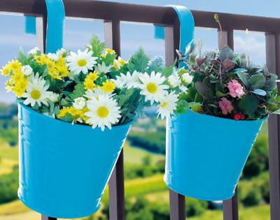Set di due portavasi da appendere vasi e fioriere dmail for Portavasi da balcone