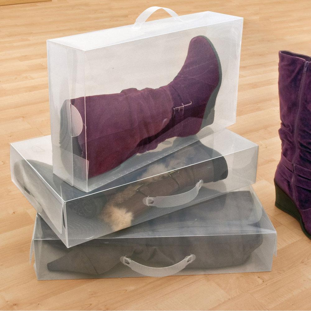 Set 3 scatole porta stivali casa dmail - Scatole porta scarpe ...