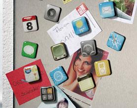 I magneti che riproducono le icone dell'iPhone