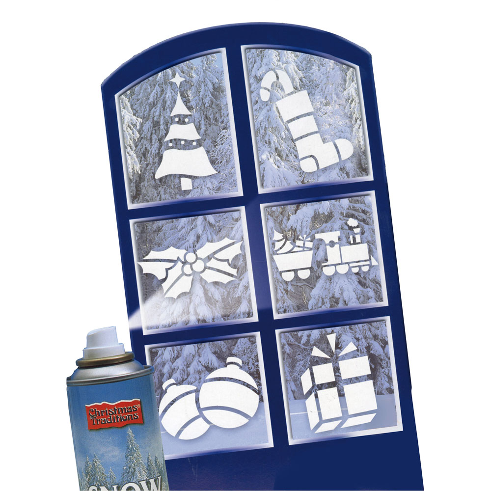 6 stencil giganti per finestre decorazioni casa dmail - Decori natalizi per finestre ...