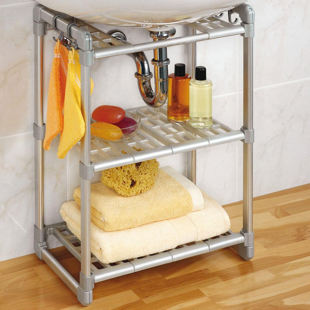 Scaffale mobiletto a tre ripiani idee utili dmail - Sottolavello bagno ...