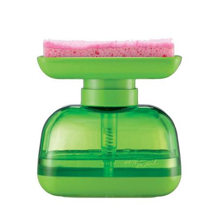 Dispenser sapone e supporto per spugna 2 in 1