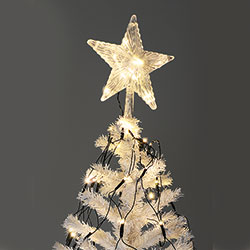 Puntale per albero di Natale con 160 led