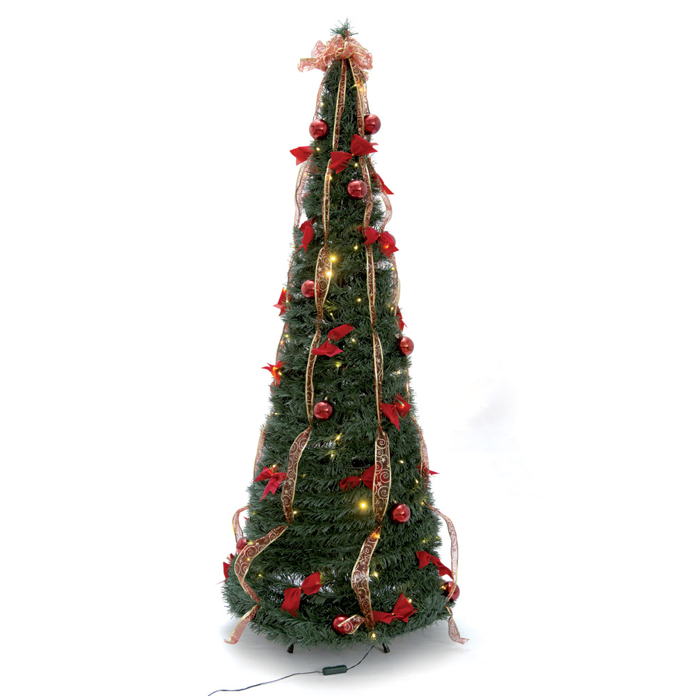 Albero di natale pronto con led decorazioni casa dmail for Dmail natale