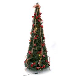 Albero di Natale pronto con led