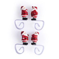 Set 4 fermatovaglia a forma di Babbo Natale