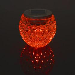 Sfera in vetro con luce cambiacolore