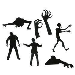 Set 6 zombie adesivi