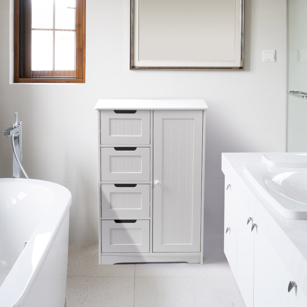 armadio bianco bagno : Dettagli su Armadio Armadietto 1 Anta 4 Cassetti Per Bagno Ufficio ...