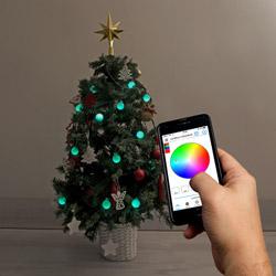 Luci per albero da comandare con smartphone