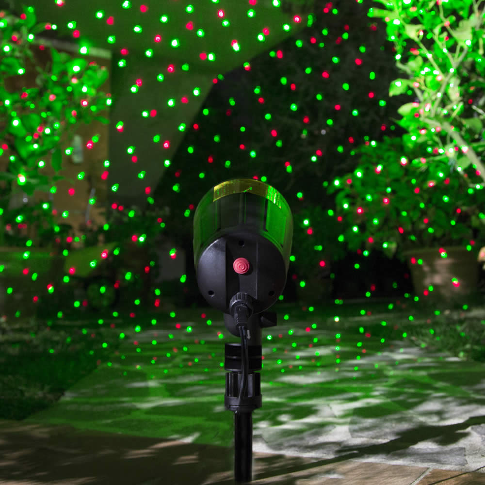 Proiettore laser luci natalizie decorazioni casa dmail for Luci led per casa