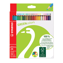 STABILO GREENcolors scatola in cartone 24 colori